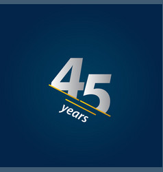 45 years anniversary celebration blue and white vector