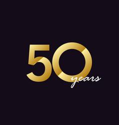 50 years anniversary celebration gradient vector