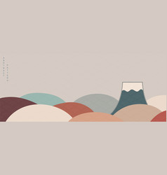 Abstract background with mountain layout design vector