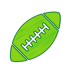 american simple football ball lemon vector image