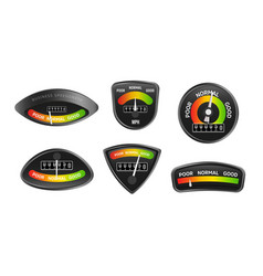 analog business speedometers collection set of vector image