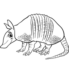 armadillo animal cartoon coloring page vector image