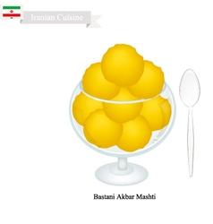 Bastani Akbar Mashti or Iranian Ice Cream vector image