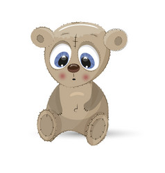 bear animal teddy fluffy cartoon vector image