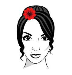 Beautiful female face vector