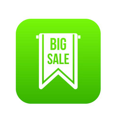 big sale banner icon digital green vector image