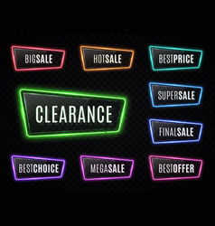 big sale best price clearance neon signs vector image