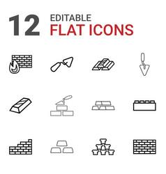 brick icons vector image