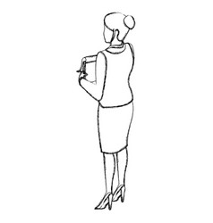 Business woman back view vector