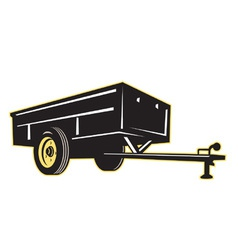 Car garden lawn utility trailer side vector