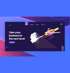 Career boost website landing page overcoming vector