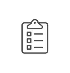 clip board line icon vector image