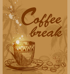coffee break background vector image