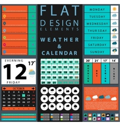 Components featuring design weather and calendar vector