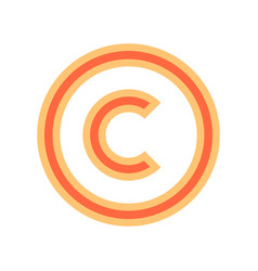 Copyright symbol sign vector