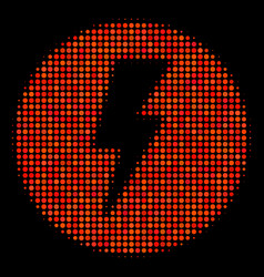 Electricity halftone icon vector