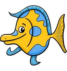 exotic fish cartoon vector image