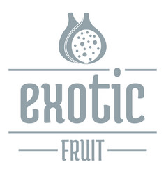 Exotic fruit logo simple gray style vector