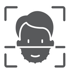 Face id glyph icon face recognition vector