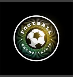Football soccer circular logo modern professional vector
