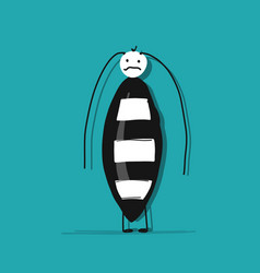 funny beetle for your design vector image