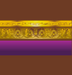 Gold border in the ancient greek style vector