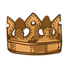 golden crown for king or queen royalty symbol vector image