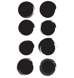 grunge circles black vector image