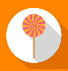 halloween candy flat icon with long shadow vector image