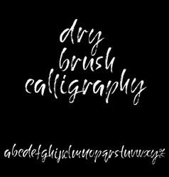 hand drawn dry brush font modern brush lettering vector image