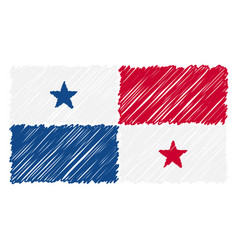 hand drawn national flag of panama isolated on a vector image