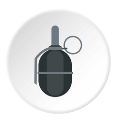 Hand paintball grenade icon circle vector