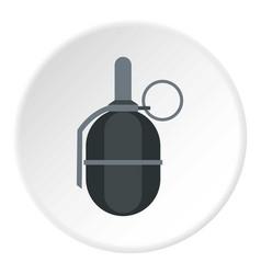 hand paintball grenade icon circle vector image