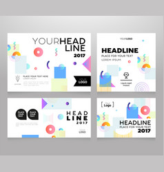 headline banner - modern set of abstract vector image