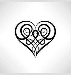 Heart symbol love sign save date amulet ancient vector