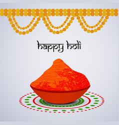 hindu festival holi background vector image