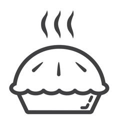 hot pie line icon food and drink bakery sign vector image