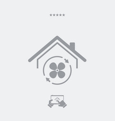 house air conditioner - web icon vector image