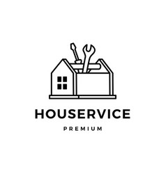 house service toolbox logo icon vector image
