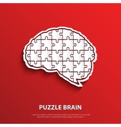 Human brain composed a puzzle vector