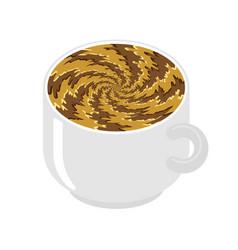 Hypnot coffee mug hypnosis aroma swirl vector