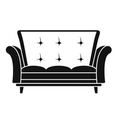 leather sofa icon simple style vector image