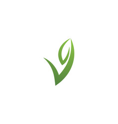logos green tree leaf ecology vector image