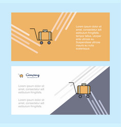Luggage cart abstract corporate business banner vector