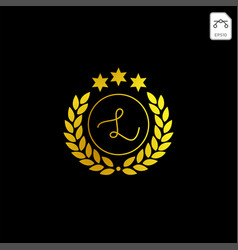 Luxury l initial logo or symbol business company vector