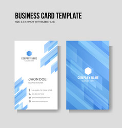 modern business card vertical template vector image