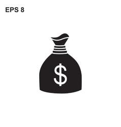 Money bag icon vector