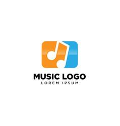 Music note logo template icon logo design vector