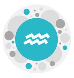 Of climate symbol on aquarius vector