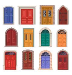 old door icon or vintage house entrance vector image